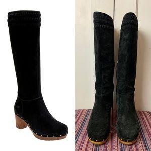UGG Suede Rosabella Clog Knee High Boots Sz 8
